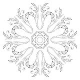 projekta mody henny mandala ilustracja wektor