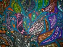 Projekta obraz tworzący na wodnym colour zdjęcie stock