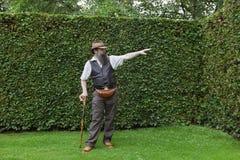 projekta ogrodowego właściciela parkowy seans fotografia royalty free