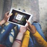 Projekta oprogramowanie Resize ikony pojęcie Fotografia Stock