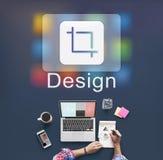 Projekta oprogramowanie Resize ikony pojęcie Fotografia Royalty Free