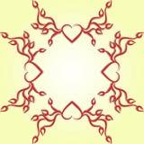 Projekta ornamentu serca Zdjęcia Stock