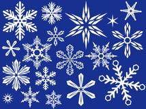 projekta płatek śniegu Obraz Royalty Free