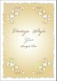 projekta papier kwiecisty stary Zdjęcie Royalty Free
