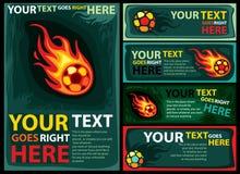 projekta piłki nożnej szablon Zdjęcia Royalty Free