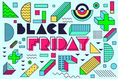Projekta plakat dla czarnych Piątek sprzedaży Zdjęcia Royalty Free