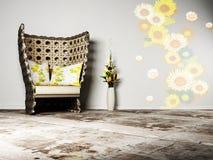 projekta pokój wewnętrzny żywy ładny ilustracja wektor
