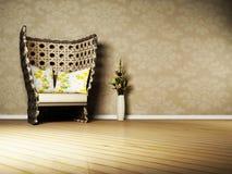 projekta pokój wewnętrzny żywy ładny royalty ilustracja