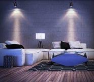 projekta pokój wewnętrzny żywy nowożytny Zdjęcia Stock
