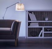projekta pokój wewnętrzny żywy nowożytny Zdjęcie Stock