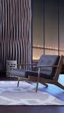 projekta pokój wewnętrzny żywy nowożytny Obrazy Royalty Free