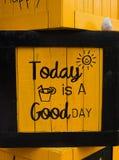 Projekta pudełkowaty kolor żółty obraz royalty free