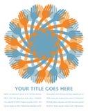 projekta ręki vortex ilustracji