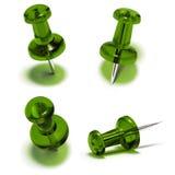 projekta rysunkowego elementu szpilki pushpin ustalony thumbtack Zdjęcie Stock