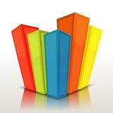 Projekta Stats I kolumn bary Obrazy Stock