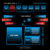 projekta strony sieć Obraz Stock