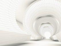 Projekta stylizowany tunel z 3d ramą royalty ilustracja