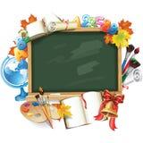 Projekta szablon dla Z powrotem szkoła ilustracji