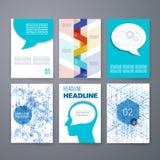 Projekta szablon Ustawiający dla sieci, poczta, broszurki Fotografia Stock