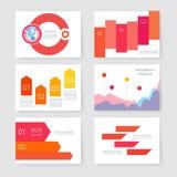 Projekta szablon Ustawiający dla sieci, poczta, broszurki Zdjęcie Stock
