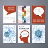 Projekta szablon Ustawiający dla sieci, poczta, broszurki Obrazy Stock