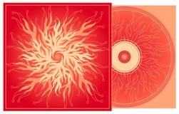 CD pokrywa w czerwieni. Fotografia Royalty Free