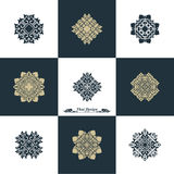 Projekta szablonu Luksusowy set Swash elementów sztuki rocznika Wektorowy St Fotografia Royalty Free