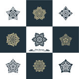 Projekta szablonu Luksusowy set Swash elementów sztuki rocznika Wektorowy St Obrazy Royalty Free