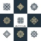 Projekta szablonu Luksusowy set Swash elementów sztuki rocznika Wektorowy St Zdjęcia Royalty Free