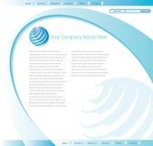 projekta szablonu strona internetowa Zdjęcia Stock