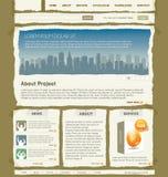 projekta szablonu wektoru strona internetowa Zdjęcia Stock