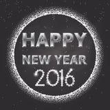 Projekta 1 szczęśliwy nowy rok 2016 ilustracja wektor