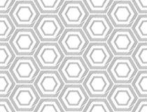 Projekta sześciokąta bezszwowy monochromatyczny wzór Zdjęcie Royalty Free