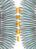Projekta tło z liśćmi drzewka palmowe w nakreślenie stylu Obrazy Stock