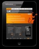 projekta telefonu szablonu cechy ogólnej strona internetowa Obraz Stock