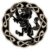 Projekta wilkołak i skandynawa ornament ilustracja wektor