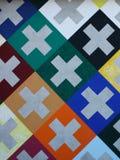 Projekta wzór Szwajcarski krzyż Fotografia Stock