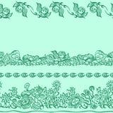 Projekta wzór z dekoracyjnym ornamentem Zdjęcie Royalty Free