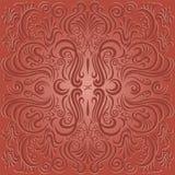 Projekta wzór z kwiecistym dekoracyjnym ornamentem Obraz Royalty Free
