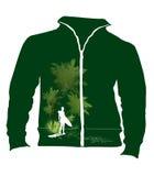 projekta zielony koszula t wektor Obrazy Royalty Free