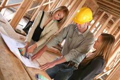 projektanci budowniczych domów Fotografia Royalty Free