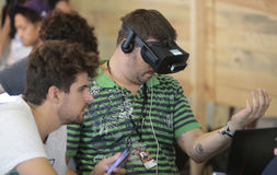 Projektanci na VR przyrządach Zdjęcia Stock