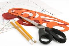projektantów odzieżowi narzędzia Zdjęcia Royalty Free