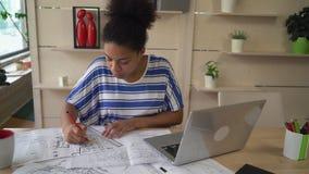 Projektantów remisów plan w projekcie zdjęcie wideo