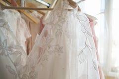 Projektant koronki suknie Obrazy Stock