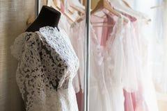 Projektant koronki suknie Fotografia Stock