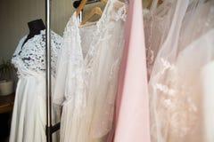 Projektant koronki suknie Zdjęcie Royalty Free