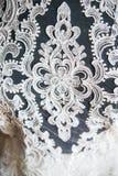 Projektant koronki suknie Zdjęcia Stock