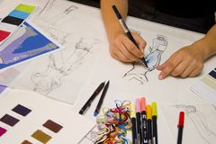 projektant mody Obrazy Stock