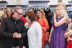 Projektant mody Rocco Barocco na dniu otwarcia pierwszy gatunku sklep w Rosja Obrazy Royalty Free
